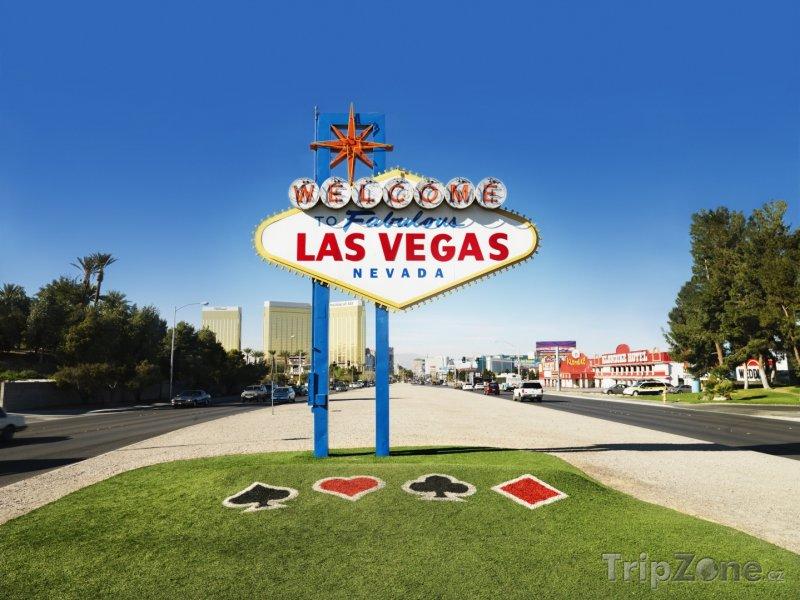 Fotka, Foto Uvítací cedule na začátku Las Vegas Strip (Las Vegas, USA)