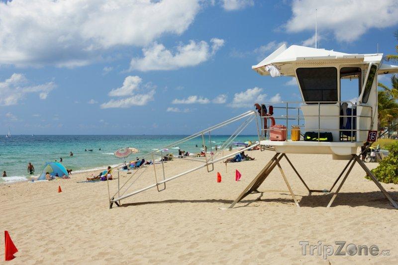 Fotka, Foto Věž pobřežní hlídky na pláži (Fort Lauderdale, USA)
