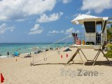 Věž pobřežní hlídky na pláži