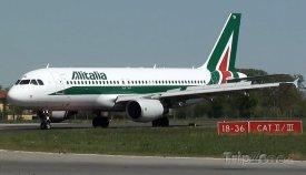 Airbus A320 společnosti Alitalia