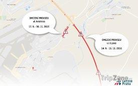Dopravní omezení potrvají až do konce listopadu