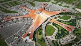 Letiště Ta-sing má tvar mořské hvězdice