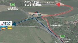 Nový sjezd na letiště Václava Havla, foto: prg.aero