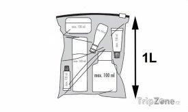 Plastový sáček pro přepravu tekutin na palubě letadla