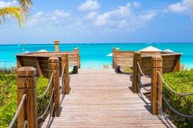 Pláž na ostrově Providenciales