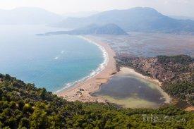 Pohled na pláž Iztuzu Beach