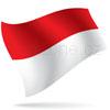 vlajka Indonésie