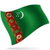 vlajka Turkmenistán