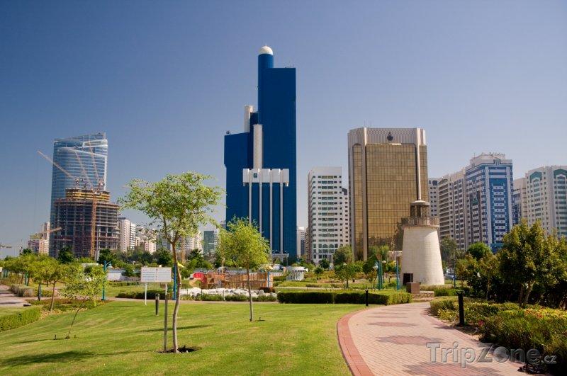 Fotka, Foto Abu Dhabi, mrakodrapy ve městě (Spojené arabské emiráty)