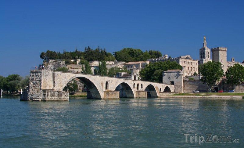 Fotka, Foto Avignon, Pont d'Avignon (Pont Saint-Bénezet) (Francie)