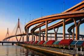 Bangkok, Bhumibol Bridge