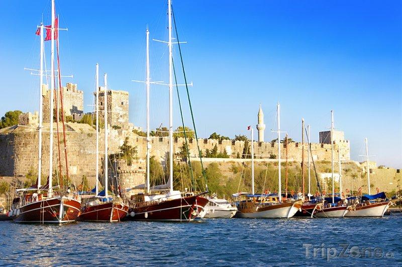 Fotka, Foto Bodrum, lodě v přístavu (Egejská riviéra, Turecko)