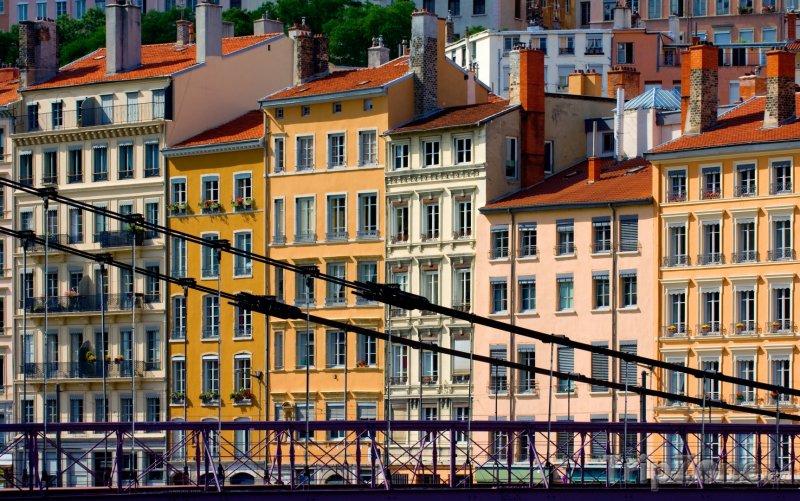 Fotka, Foto Budovy v centru města (Lyon, Francie)
