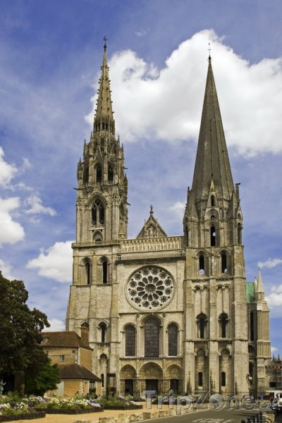 Fotka, Foto Chartres, katedrála Notre-Dame (Francie)