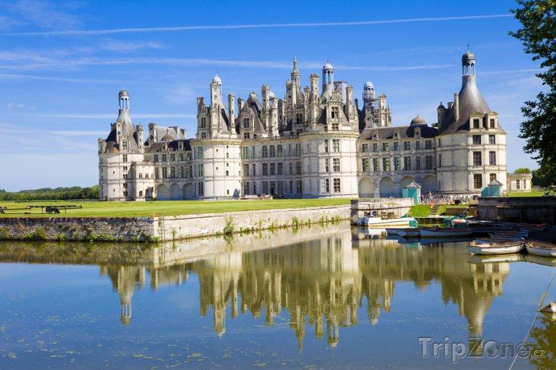 Fotka, Foto Chateau de Chambord na řece Loiře (Francie)