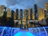 Dubaj, přístav v noci