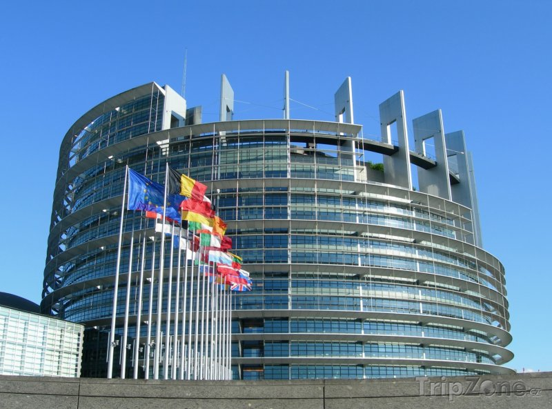 Fotka, Foto Evropský parlament, budova Louise Weisse (Štrasburk, Francie)
