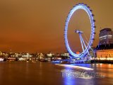 London Eye v noci