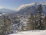 Lyžařské středisko Garmisch-Partenkirchen v Bavorsku