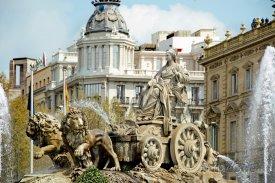 Madrid - fontána na Plaza de Cibeles