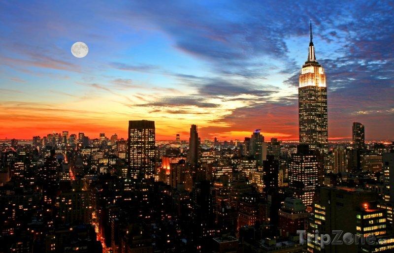 Fotka, Foto Manhattan v noci (USA)