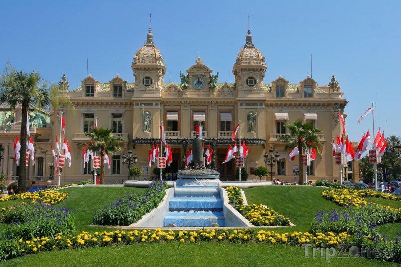 Fotka, Foto Monako, kasino v Monte Carlu (Azurové pobřeží, Francie)