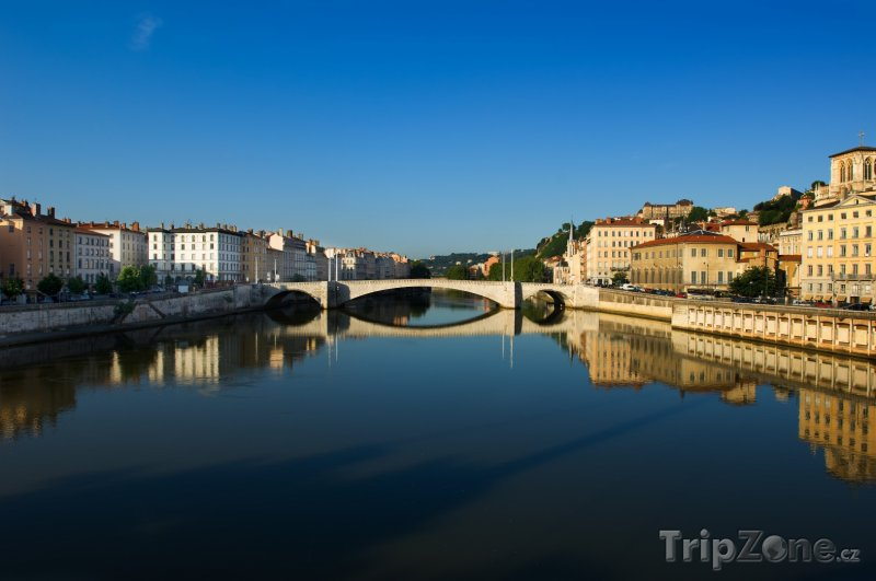 Fotka, Foto Most přes řeku Saone (Lyon, Francie)