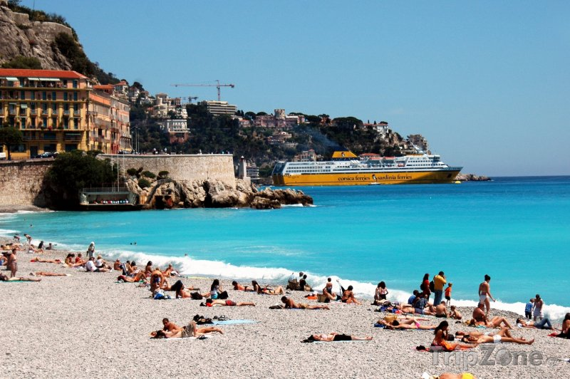 Fotka, Foto Nice, pláž (Azurové pobřeží, Francie)