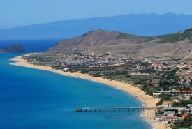 Ostrov Porto Santo, pláž