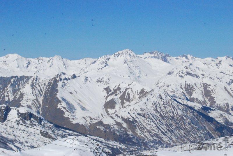 Fotka, Foto Panoráma Alp ve Francii (Tři údolí, Francie)