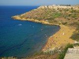 Pláž na ostrově Gozo