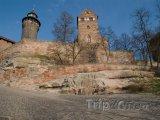 Pohled na císařský hrad v Norimberku