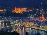 Pohled na Heidelberg v noci