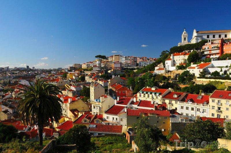 Fotka, Foto Pohled na město Lisabon (Lisabon, Portugalsko)
