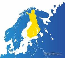 Poloha Finska na mapě Evropy