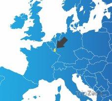 Poloha Lucemburska na mapě Evropy