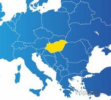 Poloha Maďarska na mapě Evropy
