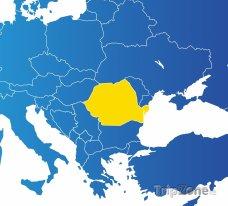 Poloha Rumunska na mapě Evropy