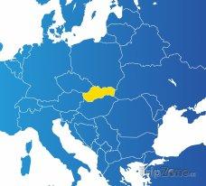 Poloha Slovenska na mapě Evropy