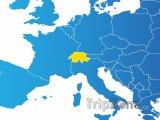 Poloha Švýcarska na mapě Evropy