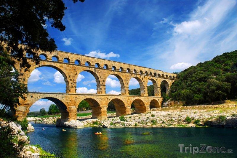 Fotka, Foto Pont du Gard, část římského akvaduktu (Francie)