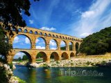 Pont du Gard, část římského akvaduktu