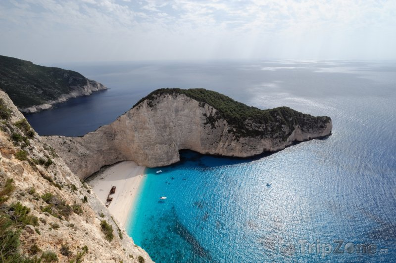 Fotka, Foto Proslulá pláž Navagio - Zakynthos (Zakynthos, Řecko)
