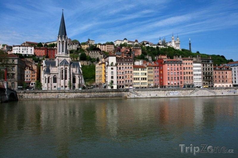 Fotka, Foto Řeka Saone (Lyon, Francie)