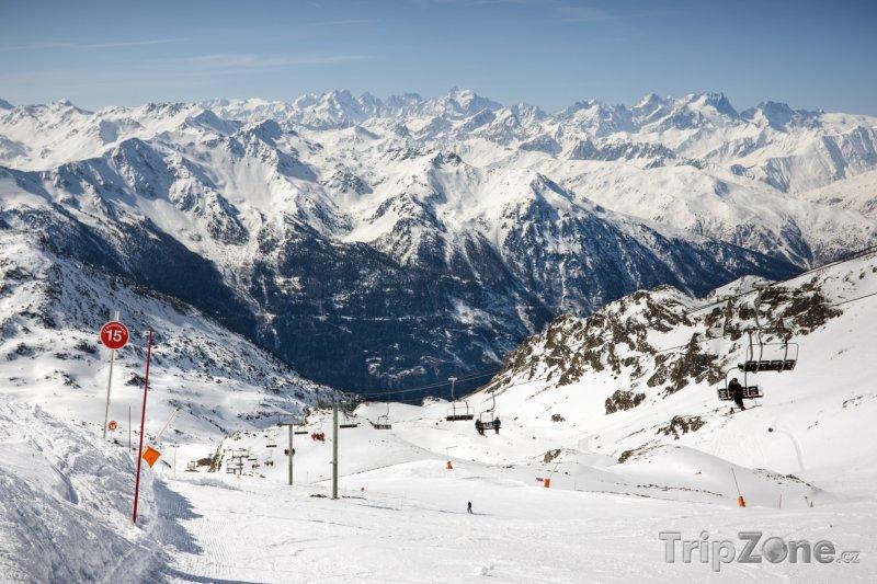 Fotka, Foto Sjezdovka ve středisku Val Thorens (Tři údolí, Francie)