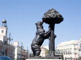 Socha medvěda na Puerta del Sol