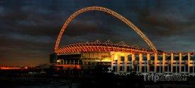 Stadion Wembley při západu slunce