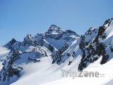Tři údolí - panoráma Alp