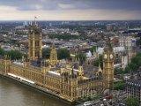 Westminsterský palác a Big Ben, pohled z London Eye