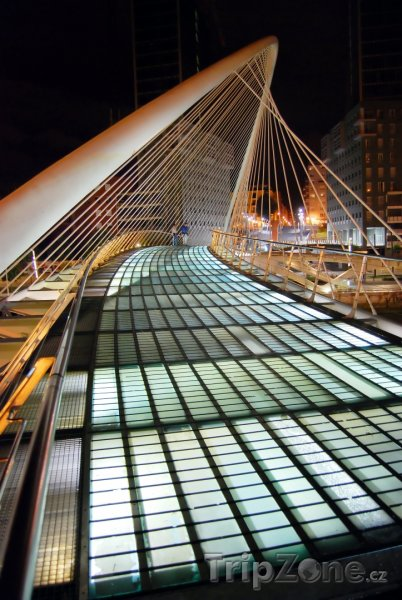 Fotka, Foto Bilbao - most architekta Calatravy (Španělsko)